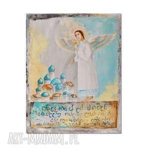 Anioł Irakli, obraz ręcznie malowany, obraz, anioł, ręcznie,