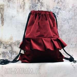 bbag aksamitny rubin, aksamitny, welurowy, pluszowy, plecak, worek, prezent