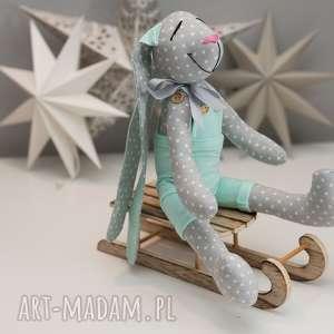 hand-made zabawki królik z imieniem personalizacja prezent