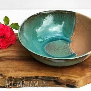 ręcznie robione ceramika misa - miska ceramiczna rajska plaża