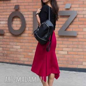 spódnica meghan kolor czerwonego wina, spodnica, ołówkowa, jesień, zima