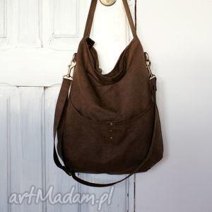 workówka czoko, zamsz, alkantara, torba na ramię torebki