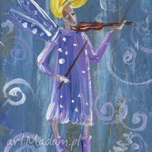 obrazy aniołek skrzypac