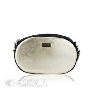 TASZKA OVUM TOUCH 1099 ZŁOTA / CZARNA , czarna, złota, pikowana, skórzana, elegancka