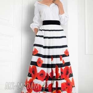 ręcznie wykonane spódnice spódnica maxi w maki