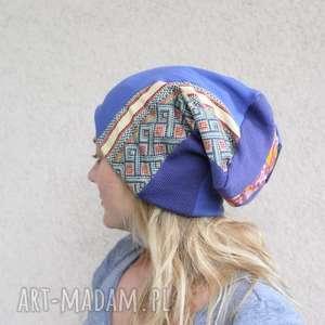 czapka patchworkowa damska etno folk - czapka, etno, damska, patchwork, orient, folk
