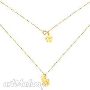 Złoty naszyjnik z kotem, naszyjnik, kot, kotek, złoty, pozłacany, łańcuszek