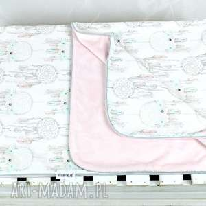 handmade pokoik dziecka kocyk minky 100x75 łapacz snów róż