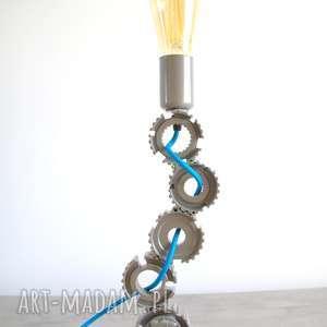 Ezer - designerska lampa z zębatek, części, loft, loftowa, stołowa, salon, sypialnia