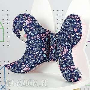 Motylek- poduszka antywstrząsowa Śpiący Lisek Granat, poduszka,