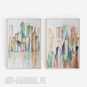 miasto-dwie akwarele każda formatu
