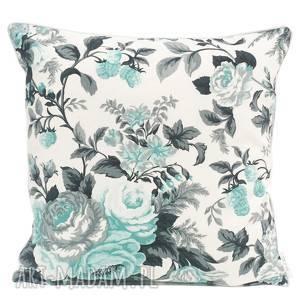 Poduszka Gypsy roses - MINT 50x50cm od majunto, poduszka-w-róże, poduszki-ozdobne