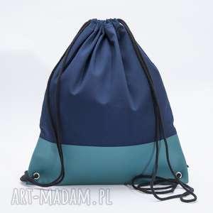 niebieski worek, torba, plecak, worek