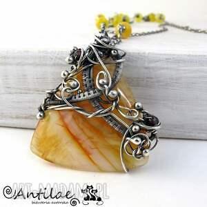 hand made naszyjniki hendese - agat, jadeit, oksydowane srebro