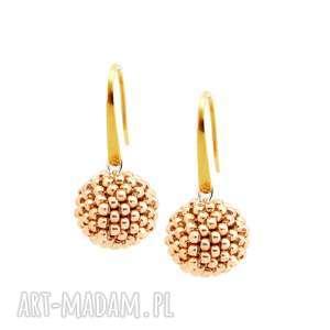 kolczyki glamour - golden & silver stal szlachetna