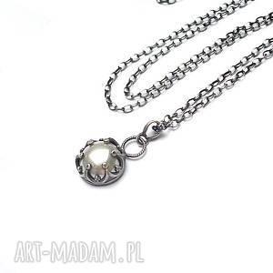 perła w koronkach /04-2018/ -naszyjnik, srebro, oksydowane