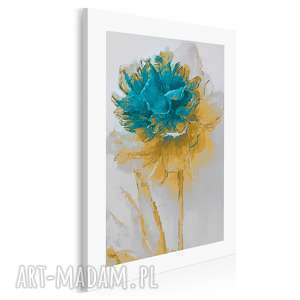 Obraz na płótnie - kwiat turkus 50x70 cm 02002 vaku dsgn kwiat