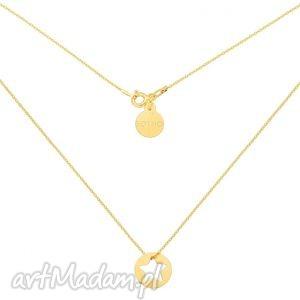złoty naszyjnik z gwiazdką w kółeczku sotho - wycięta