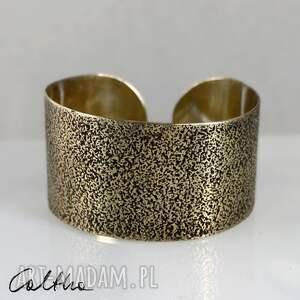 ręcznie zrobione piasek - mosiężna bransoletka #