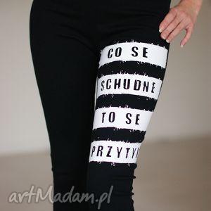 fajne blogerskie legginsy z polskim napisem, legginsy, modne, fajne, spodnie