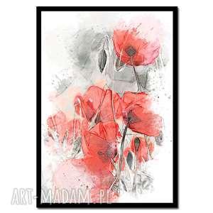 Obraz w ramie łąka 1r - 73x52cm drukowany na płótnie minimalizm