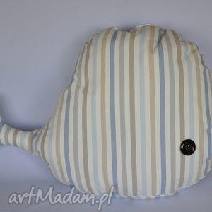 wieloryb zabawka piękna ozdoba prezent handmade - poduszka, wieloryb, przytulanka