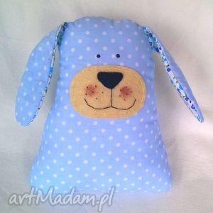 Piesek przytulanka niebieski zabawki cat corporation pies
