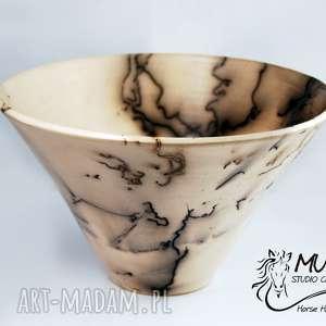 MISA HORSE HAIR RAKU, raku, ceramika-artystyczna, ceramika, misa, koń