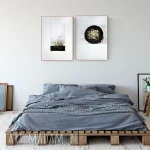 zestaw 2 grafik 50X70 cm wykonanych ręcznie, plakat, abstrakcja, elegancki minimalizm