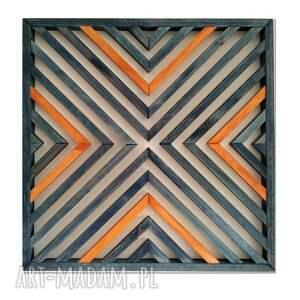 obraz z drewna, dekoracja ścienna /34- blue jeans/, obraz, drewniany