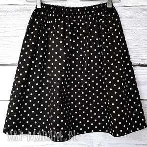 hand-made spódnice bawełniana spódniczka w białe kropki