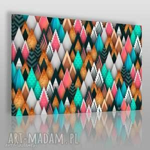 obraz na płótnie - góry trójkąty wzory 120x80 cm 83401, trójkąty, góry