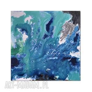 Acqua di Follia 4, abstrakcja, nowoczesny obraz ręcznie malowany, obraz,