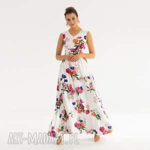 sukienki sukienka 21/ss/2021, zwiewna, kwiaty, letnia, długa, kolorowa, wzory
