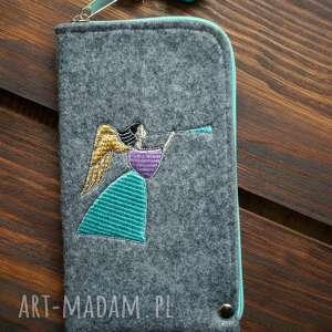 etui filcowe na telefon - aniołek, smartfon, pokrowiec, futerał, prezent
