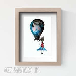 Prezent obrazek pokoik dziecka, grafika A4 wykonana ręcznie, abstrakcja