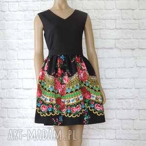 46949d3ac6 sukienki handmade CLEO czarna sukienka góralska folkowa z tiulem L  40. Sukienka  dziecięca folk ...