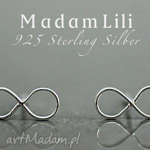 Prezent 925 srebrne kolczyki NIESKOŃCZONOŚĆ II, kolczyki, nieskończoność, berlin