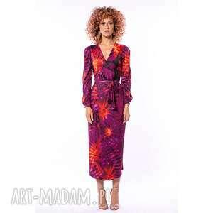 sukienki lily - sukienka midi, elegancka, oryginalna, efektowna