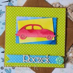 Kartka - roczek 2 scrapbooking kartki maly koziolek kartka