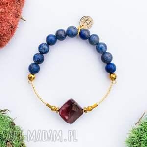 WHW High - Star Walk, kamienie, bransoletka, mokait, hematyt, elegancka, lapis-lazuli