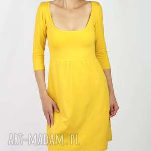 ręcznie zrobione sukienki sukienka spicy mustard