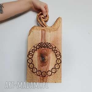 jesionowa deska do serwowania knot with runes, deska, serwowania, drewniana, kuchnia