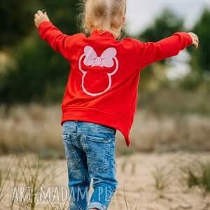 bomberka minnie, dziewczynka, rękodzieło, bluza, bomberka, jesień