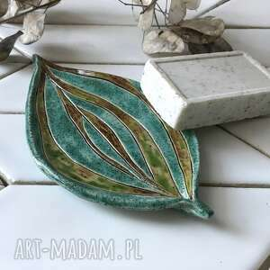 ceramika mydelniczka / talerzyk ceramiczny dwa kolory, ceramiczna