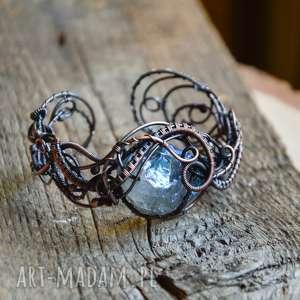 Aura - bransoletka z kwarcem pracownia miedzi kwarc, kwarc aura