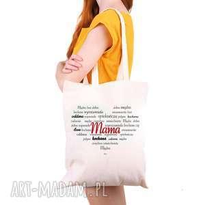 pod choinkę prezent, shopper torba eko serce mama, eko, dlaniej, dlamamy, torebak