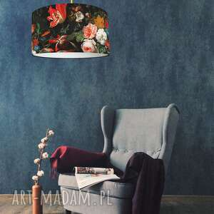 Abażur czarny do lampy kwiaty lampidarium abażur,