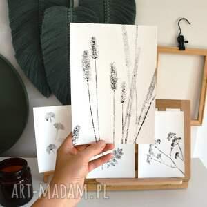 handmade dekoracje 6 x odbitka rośliny
