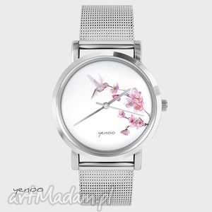 Prezent Zegarek, bransoletka - Koliber , zegarek, bransoletka, metalowy, pasek